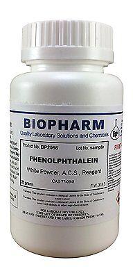 Phenolphthalein Powder Certified Acs Reagent Grade 25 Grams