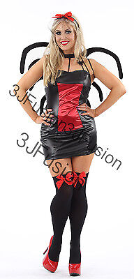 Adult Ladies Womens Black Widow Spider Halloween Fancy Dress Costume Horror (EN)](Black Widow Spider Lady Halloween Costume)