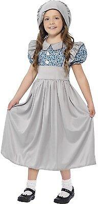 Mädchen Viktorianisch Schulmädchen Buch Woche Tag Kostüm Kleid Outfit 4-12 Jahre