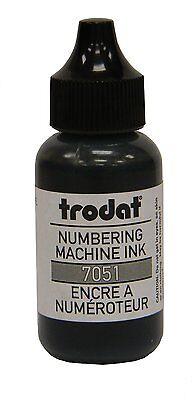 Black Trodat Numbering Machine Stamp Refill Ink 1oz Bottle