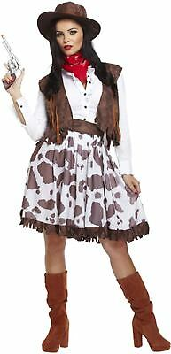 Adult Female Cowgirl Fancy Dress Dressing Up Outfit Costume Hen Do NEW ()