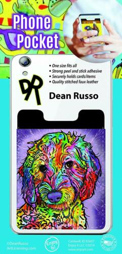 Doodle Peel and Stick Cellphone Pocket Wallet Dean Russo Labradoodle Poodle