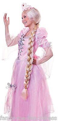 Damen Lang Blond Geflochten Märchenprinzessin Ranpunzel Kostüm - Lange Geflochtene Perücke Prinzessin
