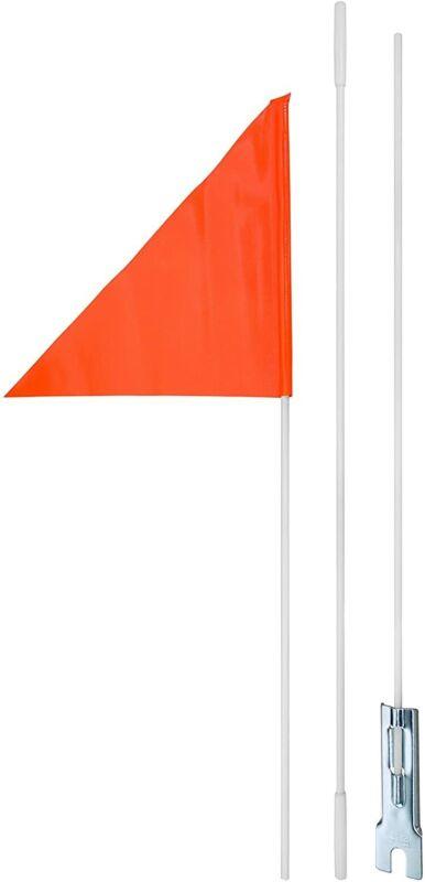 Diamondback 58-32-600 Bicycle Safety 3-piece Flag pole stands, 6-Feet - Orange