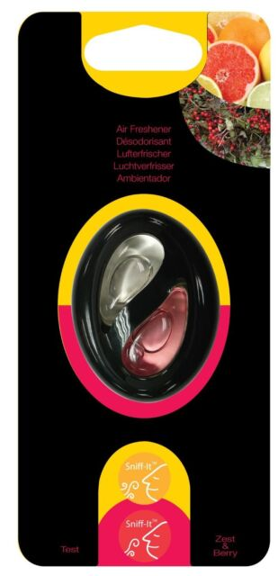 Type S Dual Liquid Clip On Vent Car Air Freshener Freshner Scent ZEST & BERRY