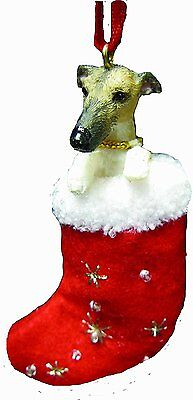 Greyhound Brindle Santa's Little Pals Dog Christmas Ornament