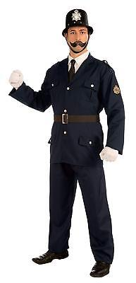 Cop Police Officer Fancy Dress Up Halloween Adult Costume (Bobby Halloween)