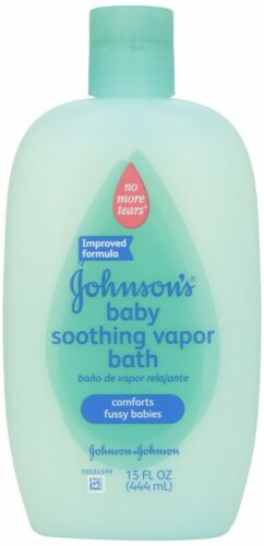 Johnson & Johnson Soothing Vapor Baby Bath Body Wash Shower Gel 15 oz Pack Of 3
