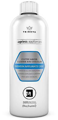 TriNova Descaling Clarification Coffee Maker Cleaner & Descaler All Machines 8 Oz USA