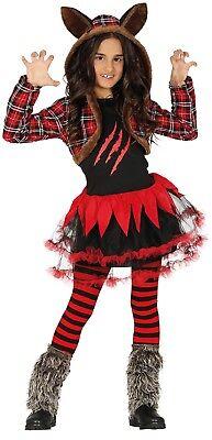 Mädchen Schottische Werwolf Tutu Tier Wolf Halloween Kostüm Kleid Outfit