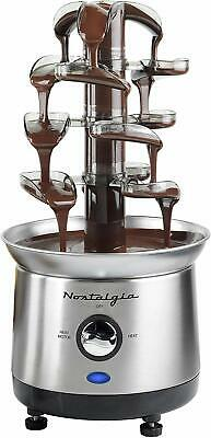 Luxury Chocolate Waterfall Fondue Fountain Machine 4 Tiers Stainless Steel New Chocolate Fondue Cocoa