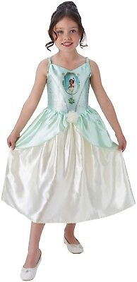 Girls Classic Tiana Princess And The Frog Book Week Fancy Dress Costume Outfit (Tiana Outfit)