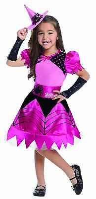Barbie Witch Wicked Sorceress Pink Black Fancy Dress Up Halloween Child Costume](Barbie Dress Up Costumes)