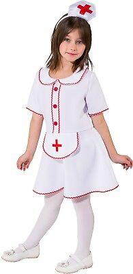Mädchen Kleine Helfer Krankenschwester Job Beruf Uniform Kostüm Kleid - Mädchen Kleine Krankenschwester Kostüm