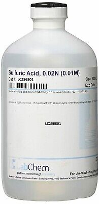 Lc256801 Sulfuric Lab Chemicals Acid 0.02n 0.01m 500 Ml Volume Industrial