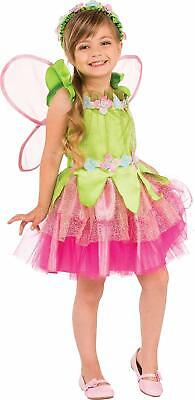 Spring Fairy Tale Pixie Pink Green Fancy Dress Up Halloween Child Costume (Pixie Fairy Halloween Costumes)