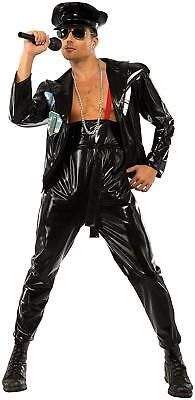 Freddie Mercury Costume Licensed Dxl Black Faux Leather 3 Pc Stage Costume