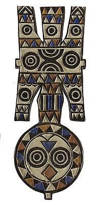 Bwa Boho Mask Plank Nwantantay Nawantante Polychrome Burkina Faso - 6343