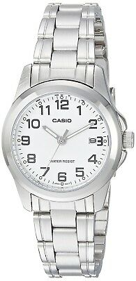 Casio LTP1215A-7B2 Women's Metal Fashion Easy Reader White Dial Analog Watch Analog Casual Easy Reader Watch