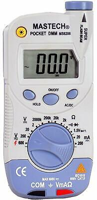 Mastech Ms8206 Pocket-size Digital Multimeter With High Accuracy And Flashlight