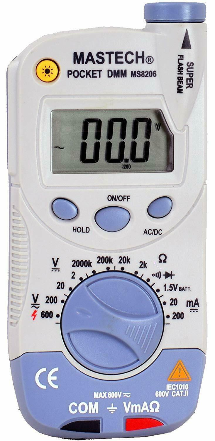 Mastech MS8206 Pocket-Size Digital Multimeter with High Accu