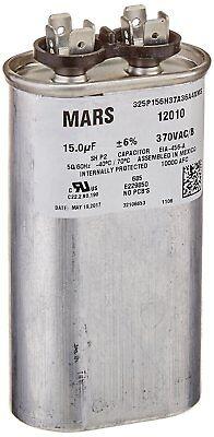 Mars Run Capacitor 15mfd X 370v Oval Aluminum 12010