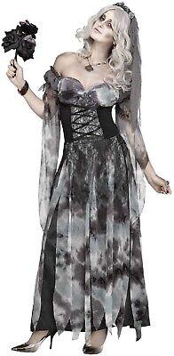 Damen Sexy Friedhof Corpse Bride Halloween Horror Kostüm - Damen Corpse Bride Halloween Kostüm