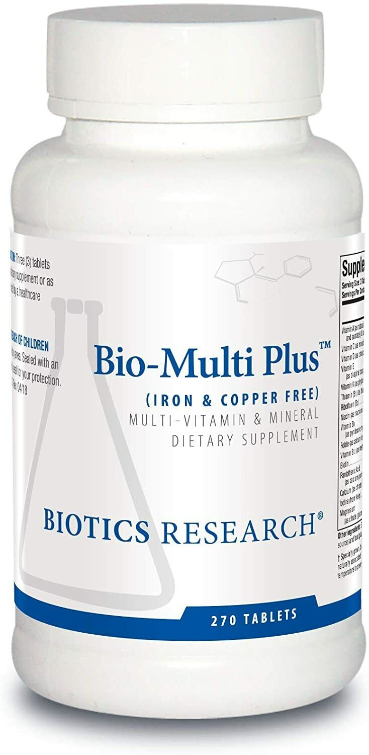 Biotics Research - Bio-Multi Plus (Iron & Copper Free) 270 Tablets (BioMulti) 2