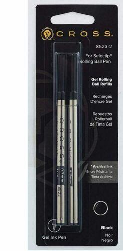2 Cross Rollerball Selectip Gel Pen Refills, 0.7mm Medium, Archival Ink #8523