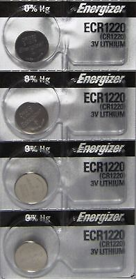 4 PIECE Fresh ENERGIZER CR1220 BATTERY 3V LITHIUM CR 1220 DL1220 BR1220 EXP 2024