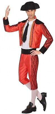 Herren Matador Spanische Stierkämpfer Junggesellenabschied Kostüm mit Hut XS-XL