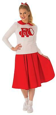 Rydell High Cheerleader Grease 50's Musical Fancy Dress Halloween Adult Costume