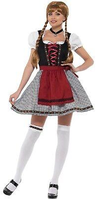 Damen Beer Damen Oktoberfest Sexy Bayrisch Kostüm Kleid Outfit UK 8-18