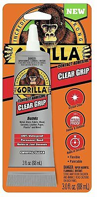 Gorilla Glue 8040001 Clear Grip Contact Adhesive 3 Oz Clear