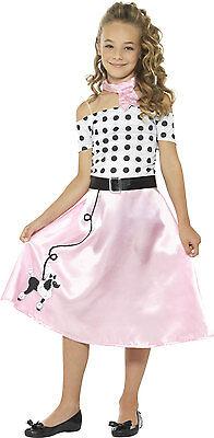 50er Jahre Rock n Roll Kinderkostüm NEU - Mädchen Karneval Fasching Verkleidung