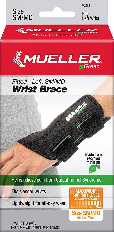 Mueller 86272 SM/MD Fitted Wrist Brace - Left Hand Carpal Tu