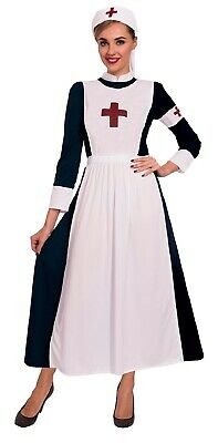 Damen 1.weltkrieg WW2 Vintage Alt Krankenschwester Outfit 8-18 ()
