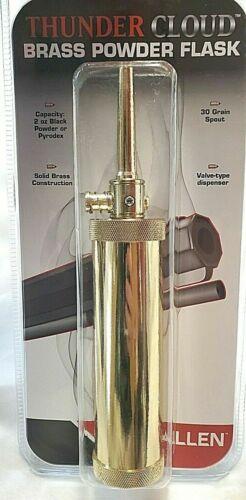 ALLEN THUNDER CLOUD BRASS POWDER FLASK 87126A NEW IN PACKAGING