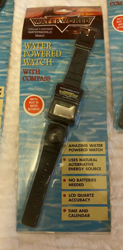 Vintage NEW Official Water World Movie WATER POWERED Wrist Watch Kevin Costner