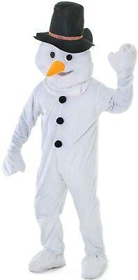 Herren Damen Maskottchen Großer Kopf Schneemann Weihnachten Kostüm - Schneemann Kostüm Damen