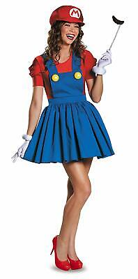 Mario Girl Super Mario Brothers Nintendo Fancy Dress Up Halloween Adult - Super Mario Dress Up Kostüm