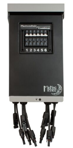 MidNite Solar MNPV6-MC4-LV Pre-Wired Combiner 3R with six 15A Circuit Breakers
