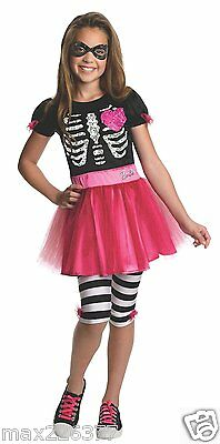 new Rubies skull ZOMBIE Barbie halloween Costume Child TODDLER 2-4 yrs