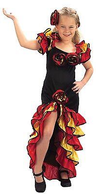 Mädchen Spanisch Rumba Tänzerin Rund um die Welt Kostüm Kleid Outfit 4-14 Jahre