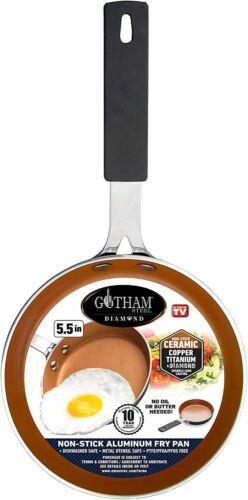 """Gotham Steel Mini Egg Pan with Nonstick Titanium & Ceramic Coating - 5.5"""" Copper"""