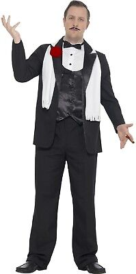 1920s Male Outfit (Mens 1920s Vintage Gangster Bugsy Malone Gatsby Fancy Dress Costume Outfit)