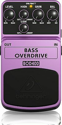 Behringer BOD400 Bass Overdrive Distortion Pedal