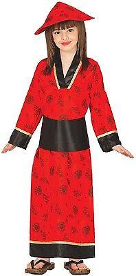 Mädchen Chinesische Japan Geisha World Buchwoche Kostüm Outfit 3-12 Jahre ()