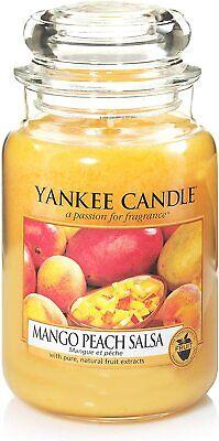 YANKEE CANDLE - Candela Profumata Mango Peach Salsa in Giara Grande da 623 gr