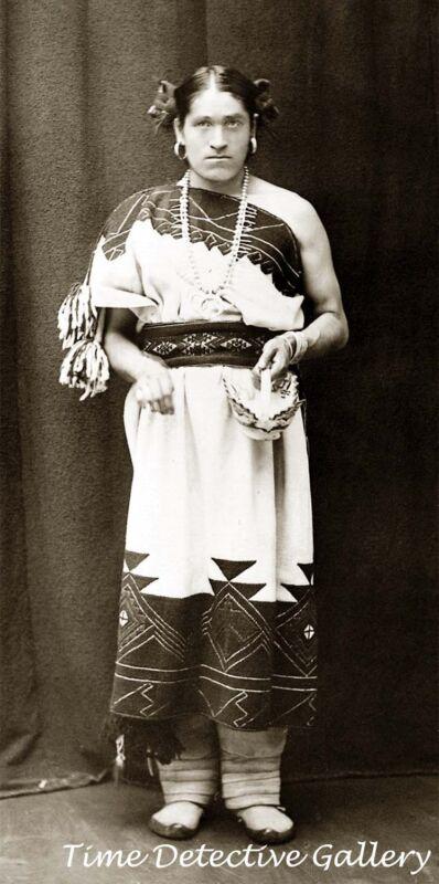 Native American Two-Spirit (Berdache) We-Wha-a-Zuni -Historic Photo Print